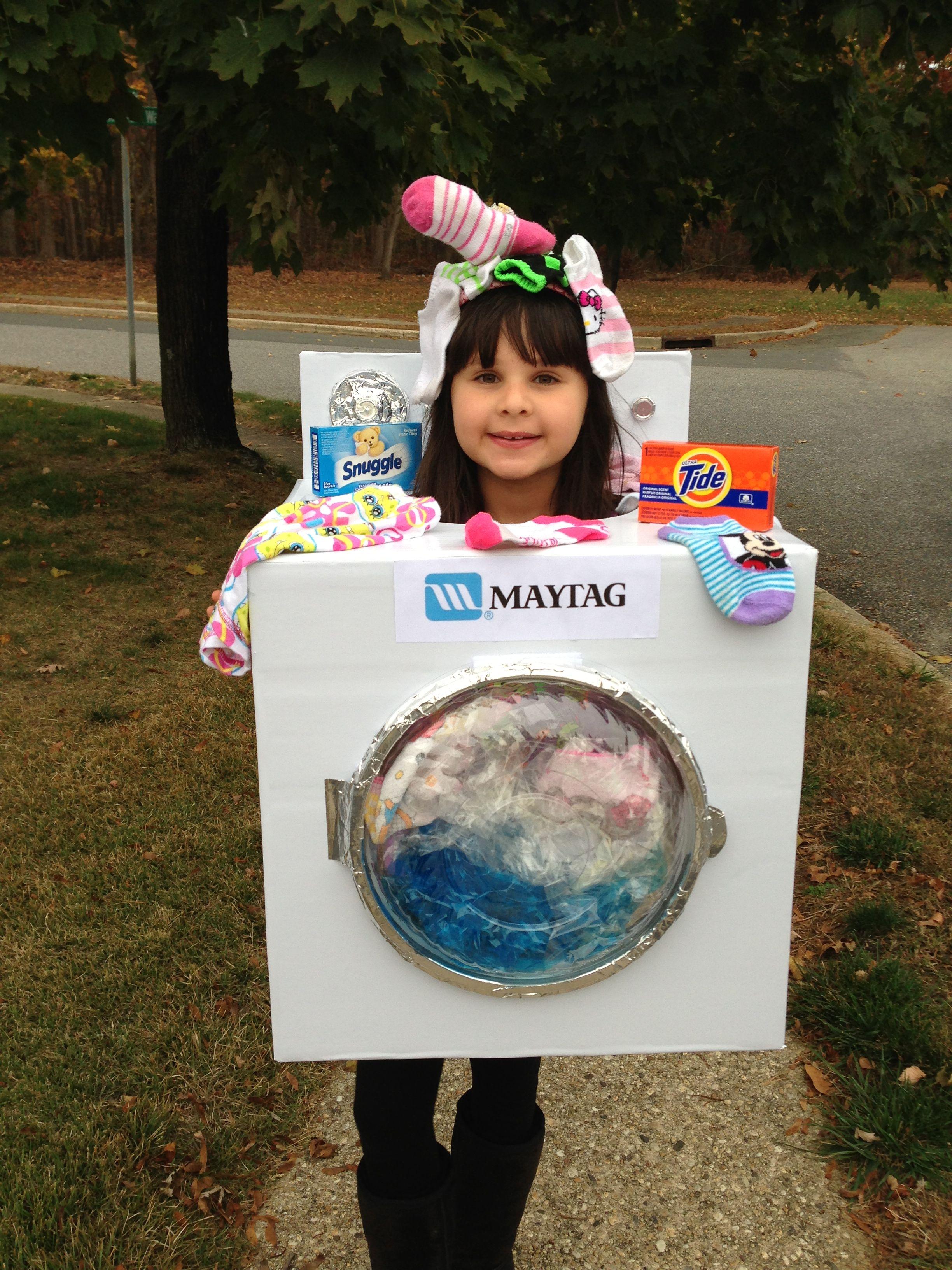 Homemade Diy Washing Machine Costume Boy Costumes Family Kids