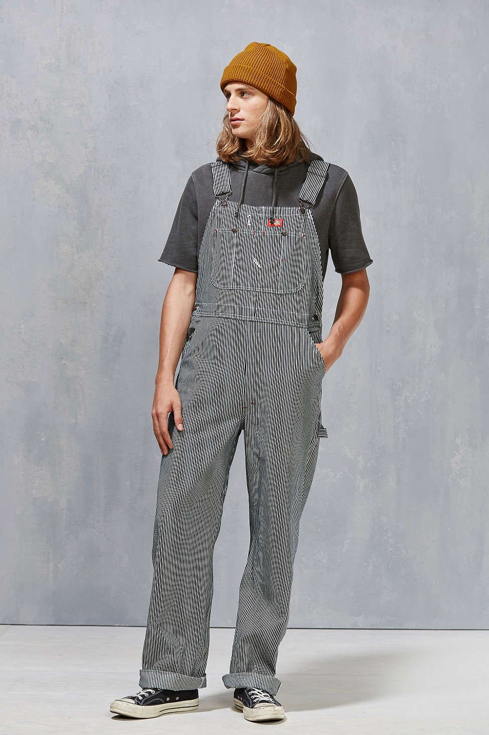 dickies hickory stripe bib overall overalls overalls on dickies coveralls id=96520