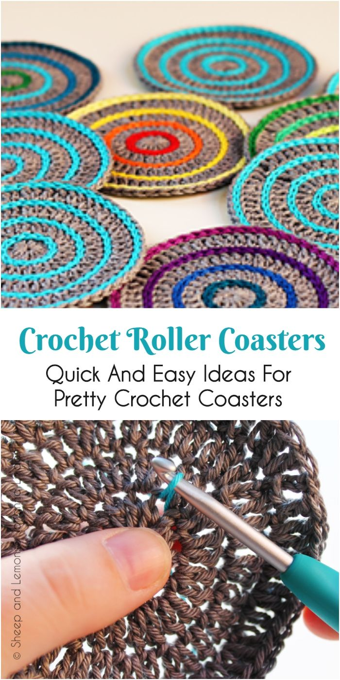 Quick And Easy Ideas For Pretty Crochet Coasters