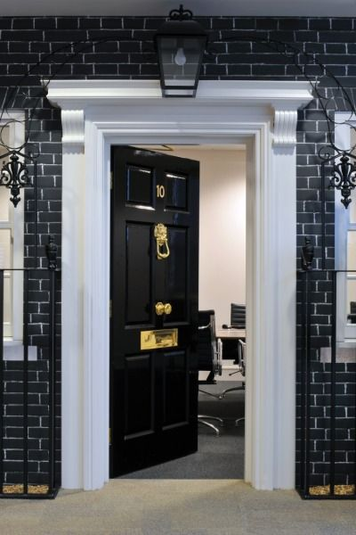 Here Is The No 10 Downing Street Meeting Room We Installed In Rackspace S Office Unique Office Design Creative Office Design Office Design Inspiration