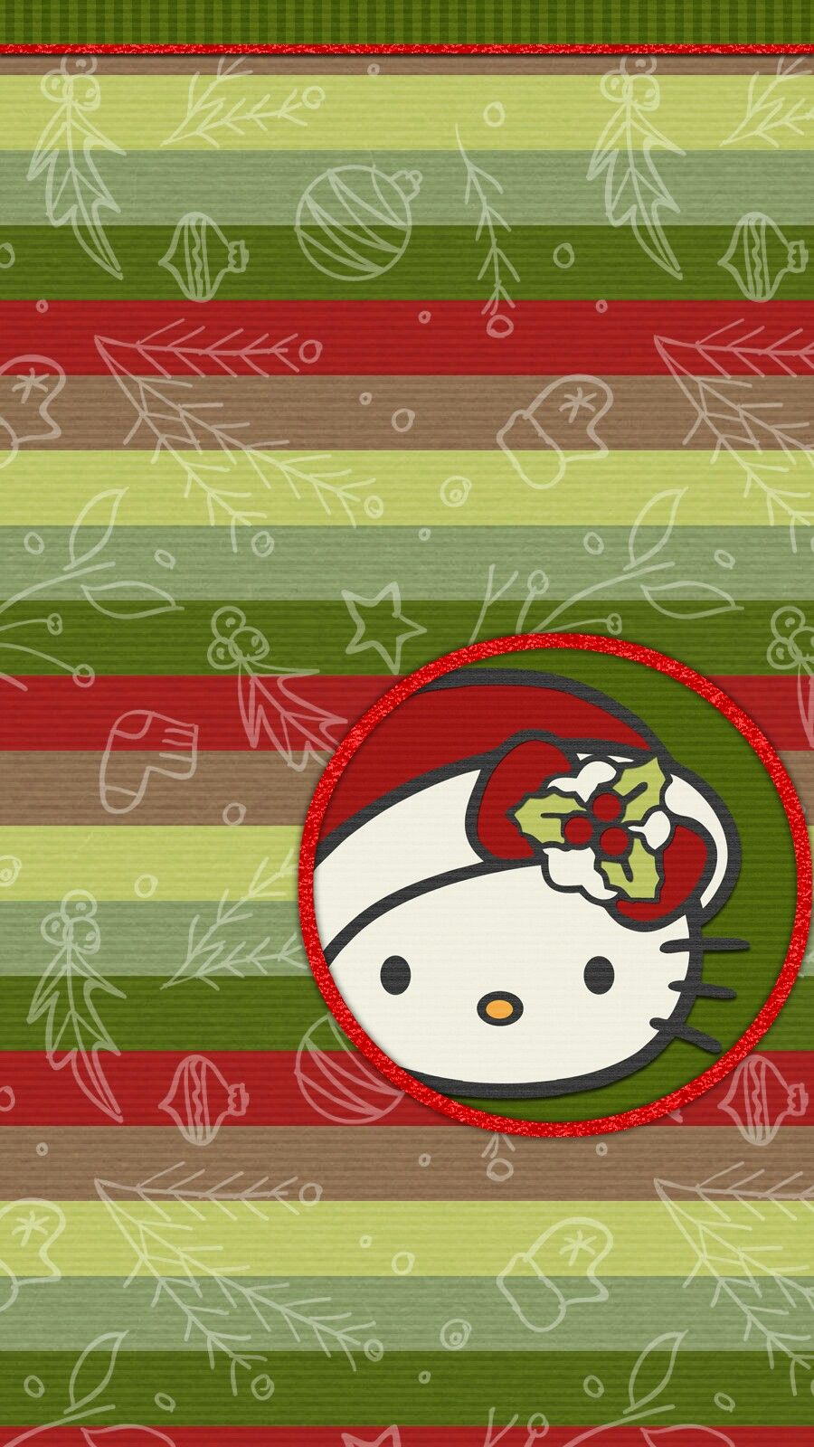 Christmas Wallpaper Iphone Android Happy Holiday Hello Kitty
