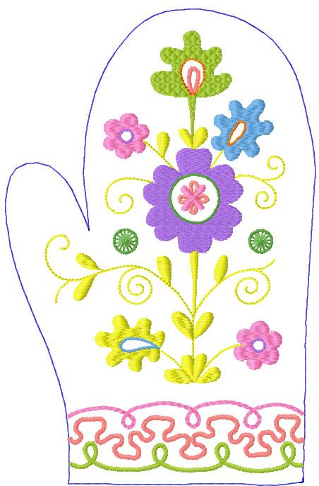 Potholder Free Embroidery Design Kitchen And Cooking Embroidery