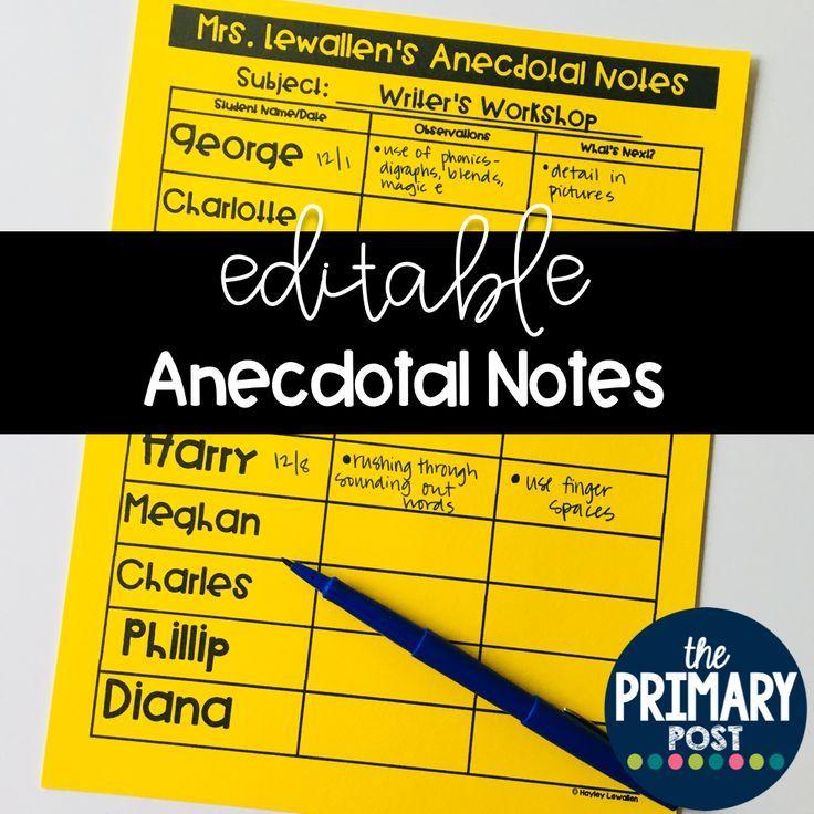 Editable anecdotal note templates anecdotal notes notes template editable anecdotal note templates maxwellsz