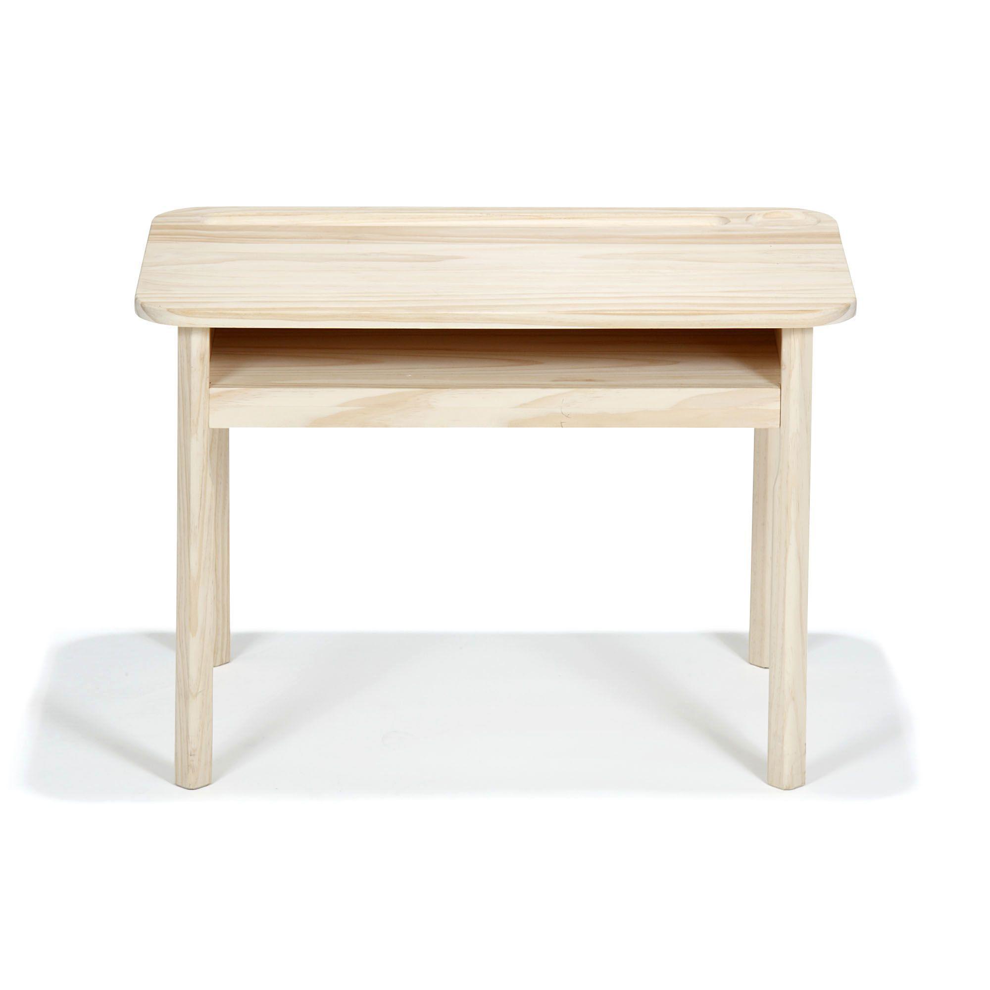 bureau enfant en bois brut peindre naturel didibouille. Black Bedroom Furniture Sets. Home Design Ideas