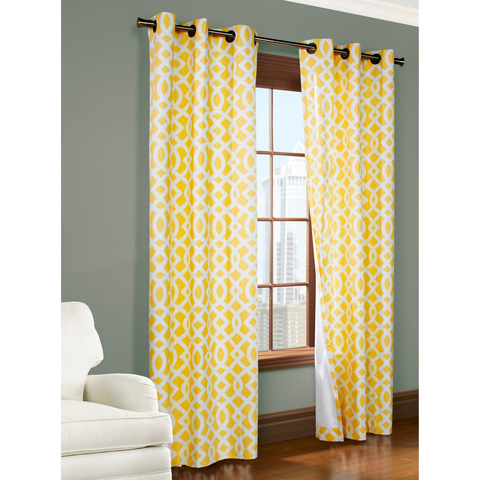 Thermalogica Trellis Insulated Grommet Top Panels Yellow Insulated Curtains Curtains Home Decor