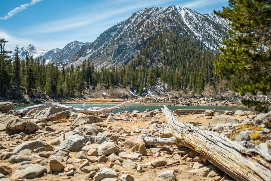 Hiking to sherwin lake california travel camping