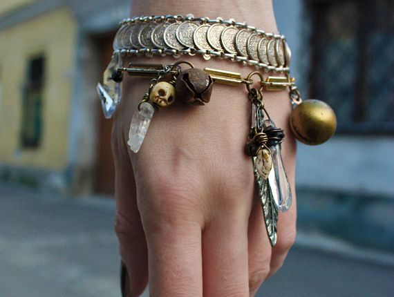 Bangles With Charms & Crystals.