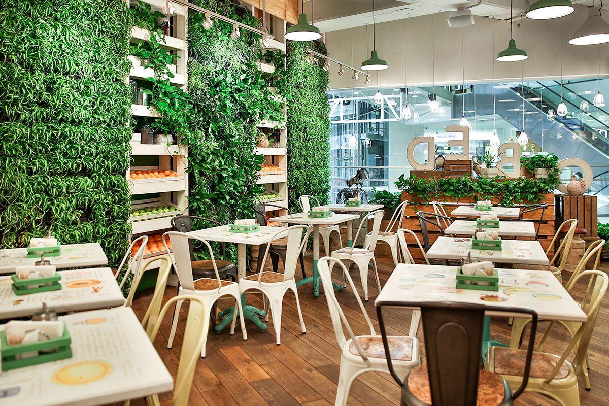 Obed Bufet Selfservice Restaurant SPB Russia Design by G