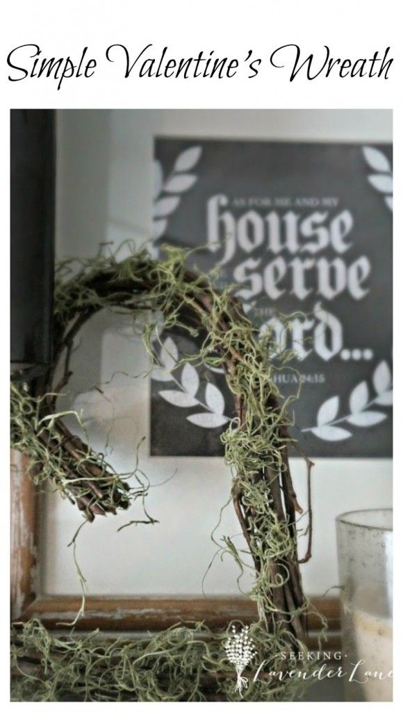 Simple Valentine's Day Wreath and Decor