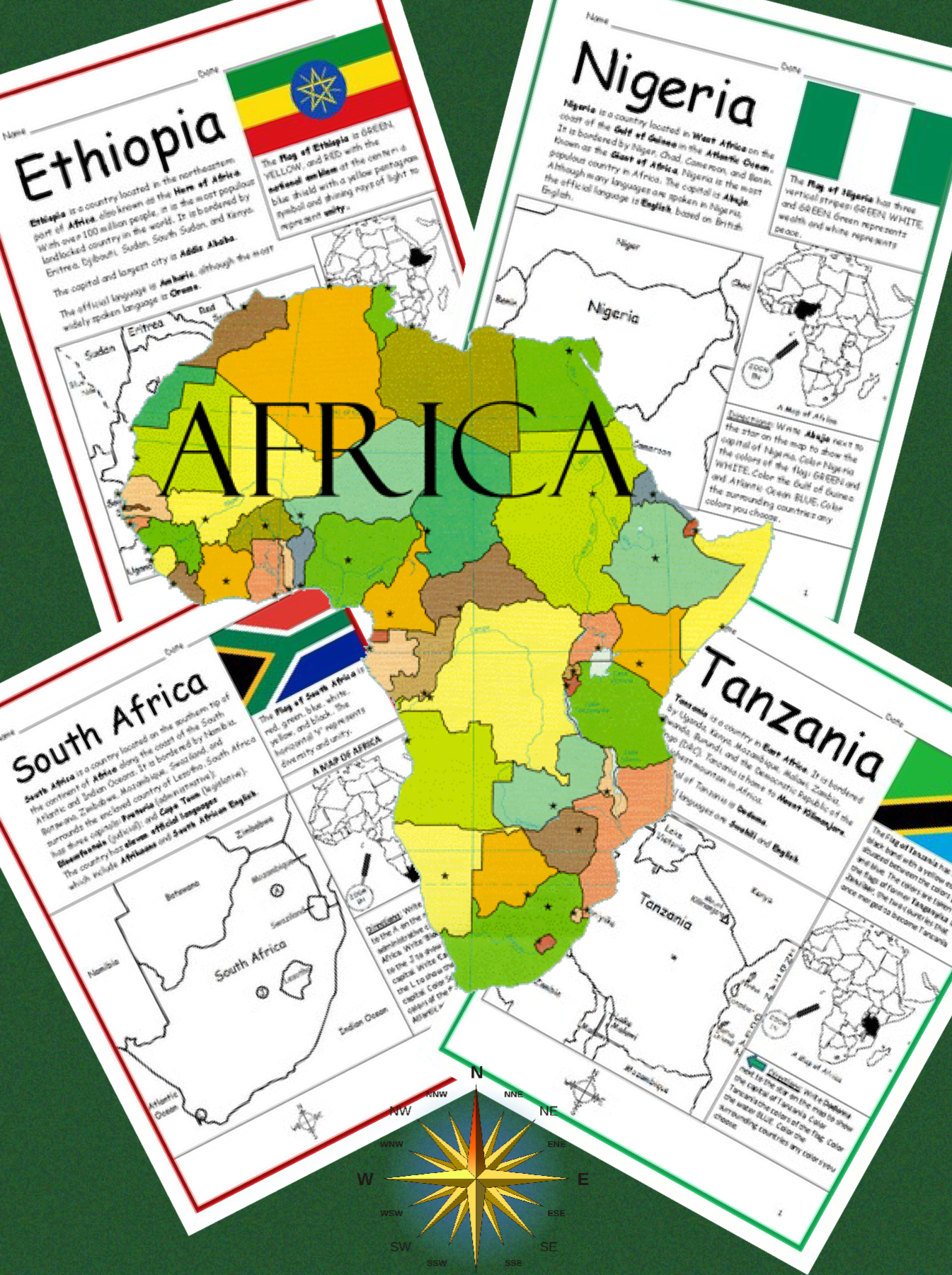 Introduce Your Students To The 54 Countries Of Africa One