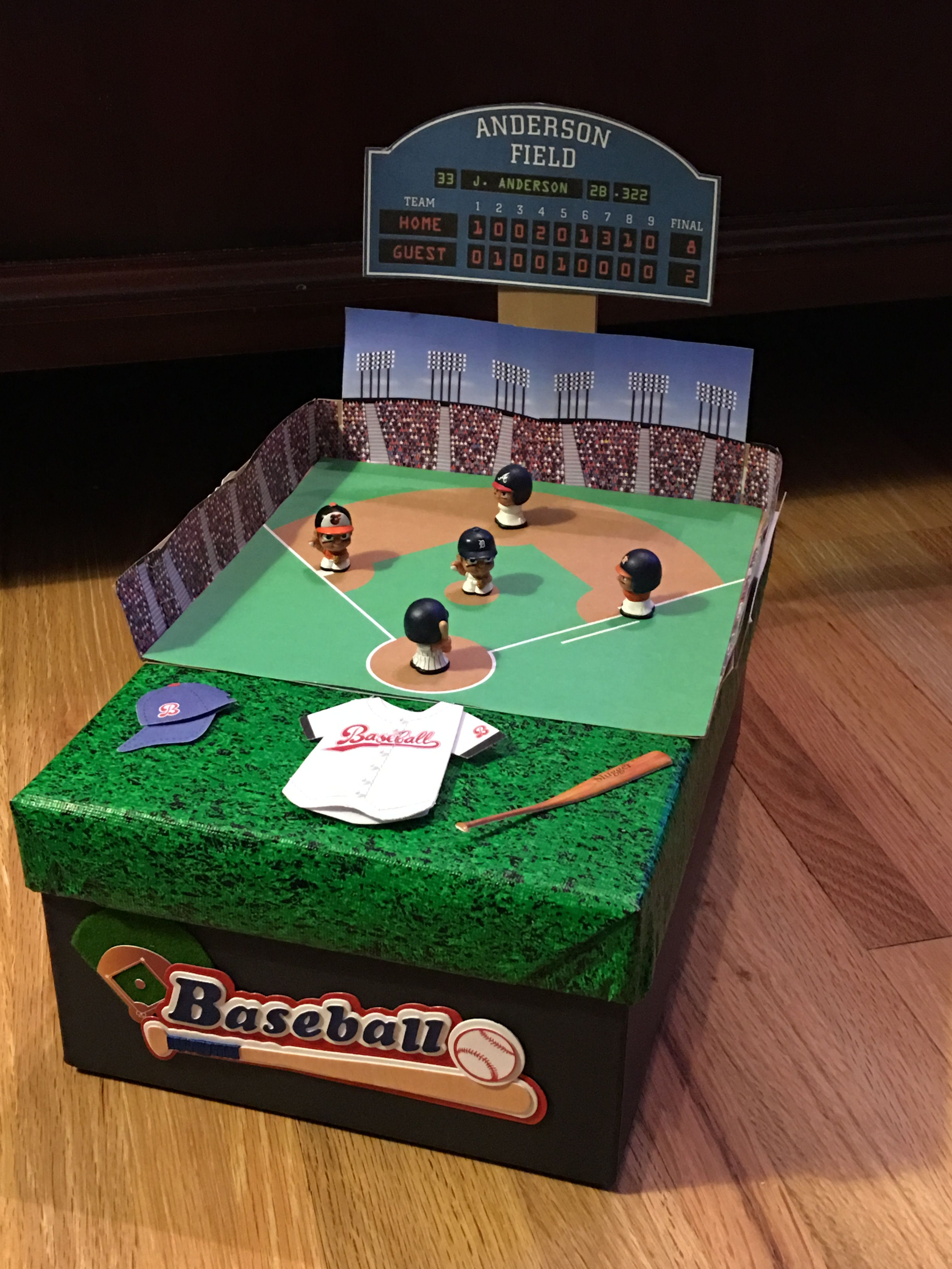Nicks Baseball Field Valentine Box Valentines Day Pinterest