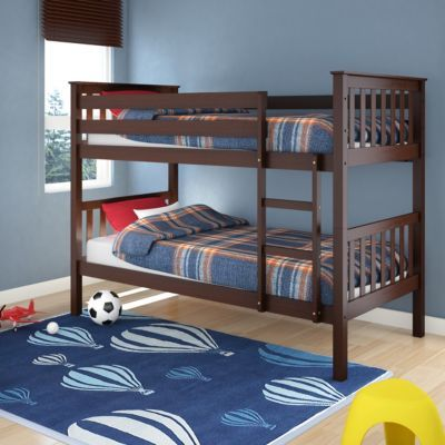 Corliving Monterey Espresso Brown Stained Solid Wood Single Bunk Bed Sears Sears Canada Bunk Bed With Trundle Wood Bunk Beds Solid Wood Bunk Beds