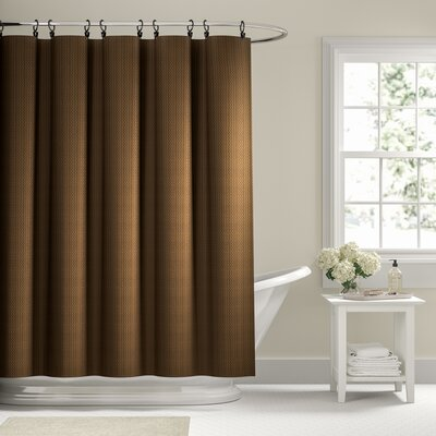 Charlton Home Winnifred Waffle Weave Textured Fabric Single Shower Curtain Striped Shower Curtains Colorful Curtains Curtains