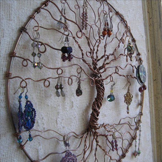 Jewelry Tree Copper Of Life Holder Wall Hanging