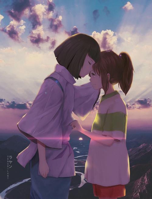 Haku Kissing Chihiro S Forehead A Viagem De Chihiro Haku A Viagem De Chihiro A Viagem