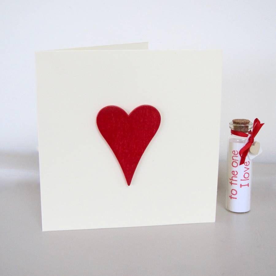 Love Heart Handmade Valentine\'s Card | Beautiful things! | Pinterest ...