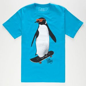 RIOT SOCIETY Skate Penguin Boys T-Shirt