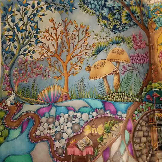 Colouring Gallery Forêt enchantée, Dessin