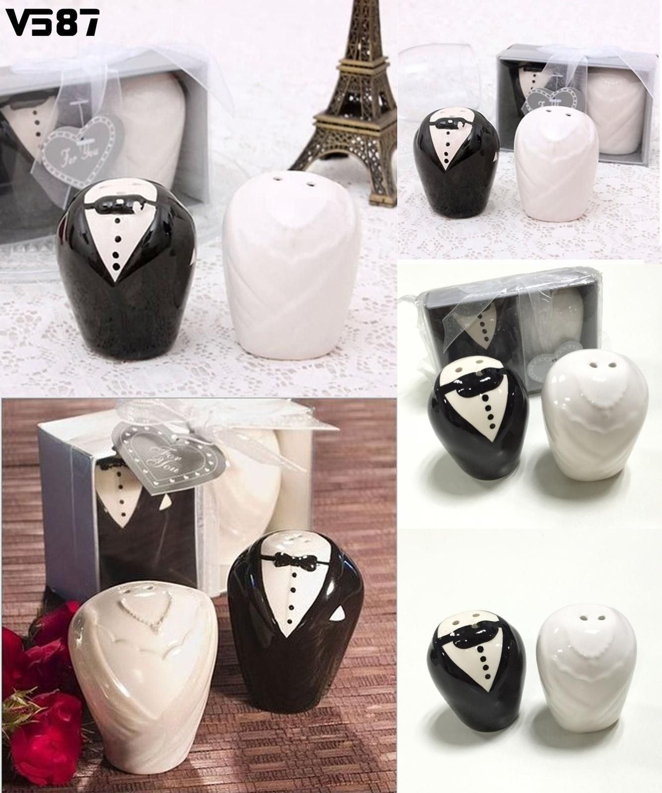 Visit to Buy] 2Pcs/Pair Spice Jar Bottle Ceramic Wedding Favors ...
