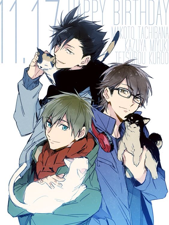 Sports Anime Crossover Happy Bday To Kuroo Haikyuu Makato Free