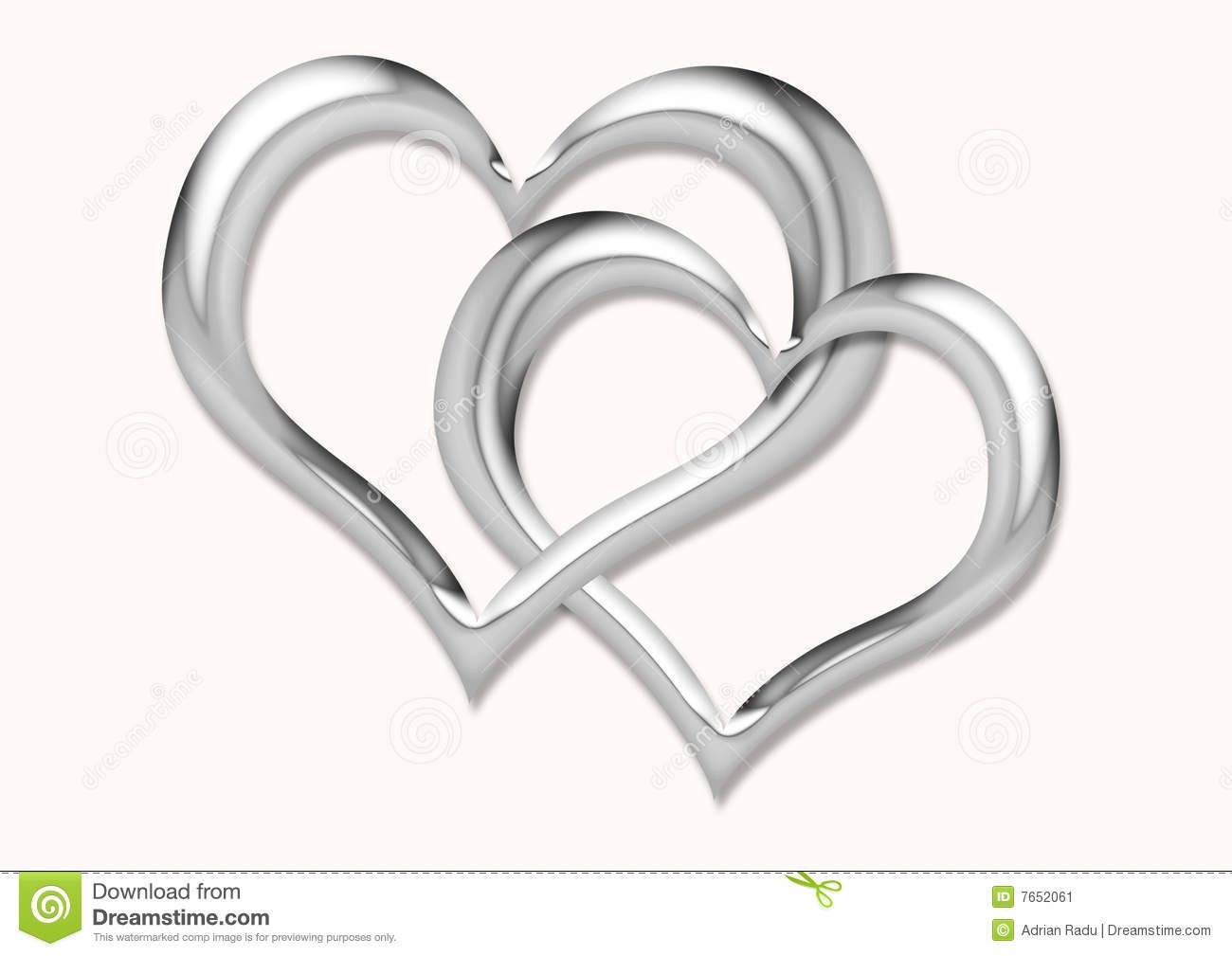 Two Silver Hearts Intertwined Two hearts silver two silver ...