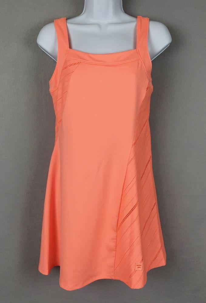 6922272a39c Fila Collezione  Peach  Tennis  Dress Size S Open Weave Fabric Bands Shelf  Bra  Fila  SkirtsSkortsDresses