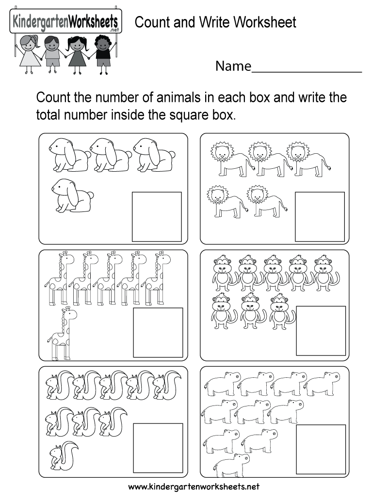 This is a fun animal counting worksheet for preschoolers or ...
