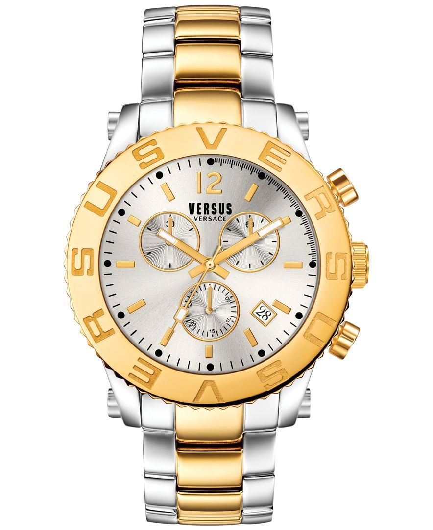 Versus by versace menus chronograph madison twotone ionplated