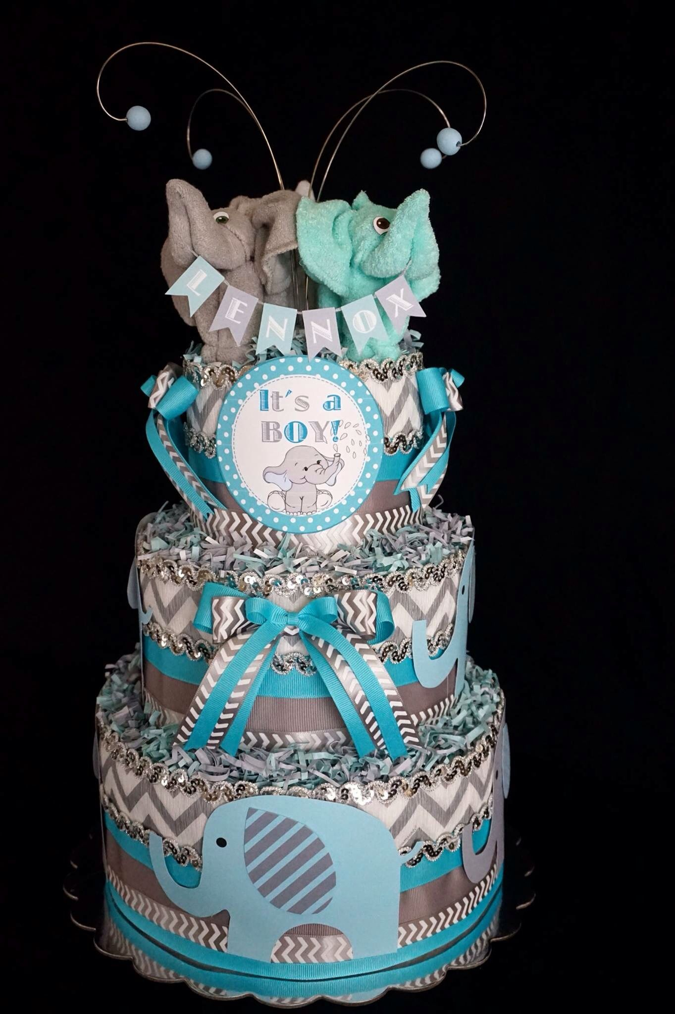 Boys Elephant Themed Diaper Cake wwwfacebookcom