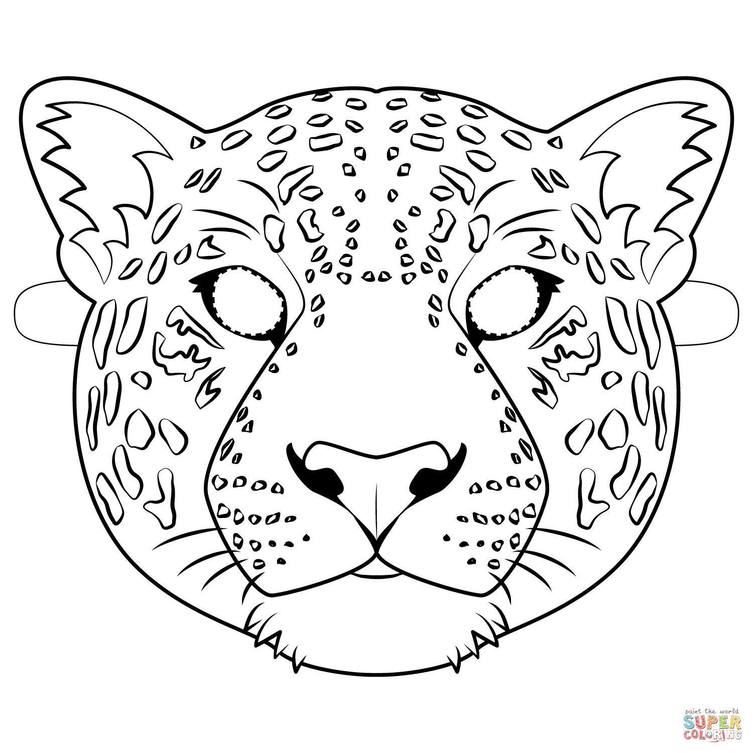 Jaguar Mask Coloring Page Free Printable Coloring Pages Animal Mask Templates Coloring Pages Coloring Mask