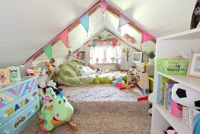 15 Cool Design Ideas For An Attic Kids Room Kidsomania Home