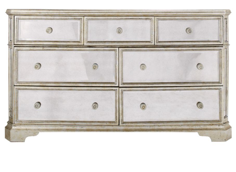 Borghese Mirrored 7 Drawer Chest Mirrored Bedroom