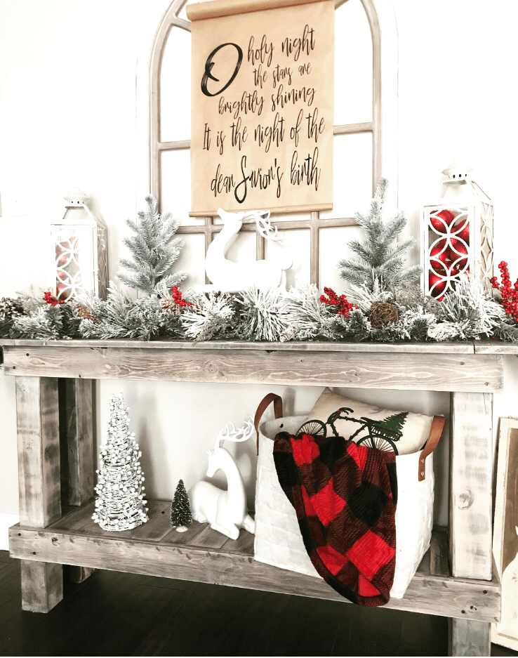 Christmas Console Table Simply Junkin Christmas Sofa Decor Console Table Decorating Hall Table Decor