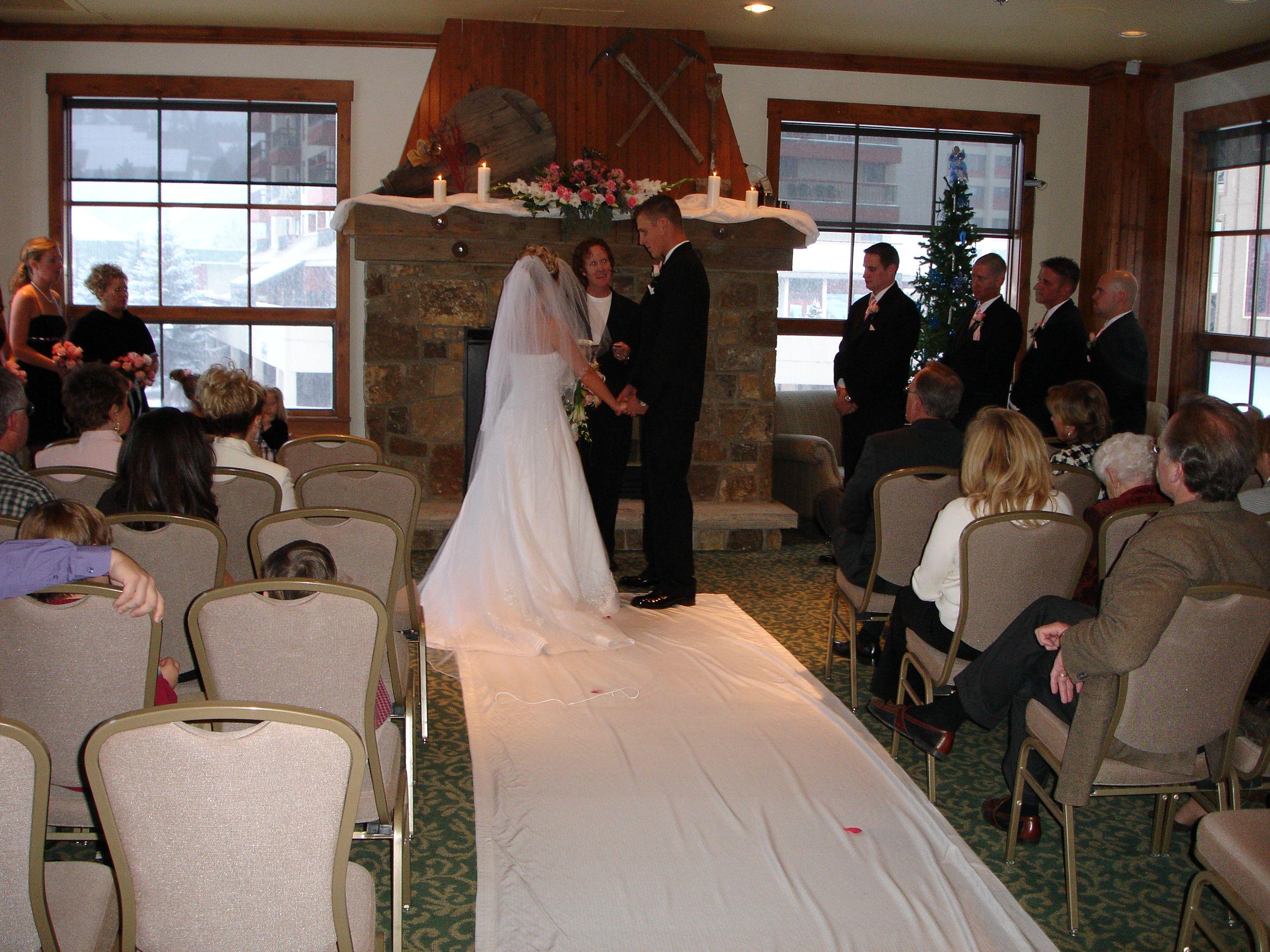 Small Indoor Wedding Ceremony In The Pioneer Club Fun Wedding