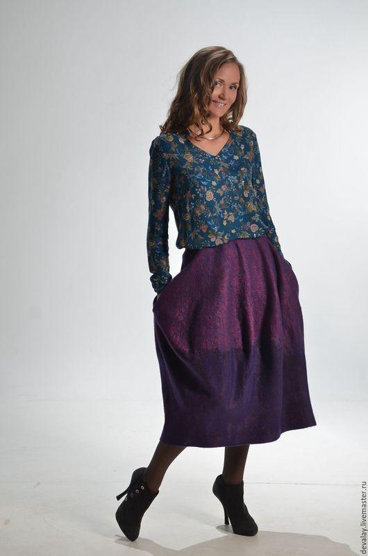 28c4983265e Юбки ручной работы. Ярмарка Мастеров - ручная работа. Купить Валяная юбка  голландский тюльпан.