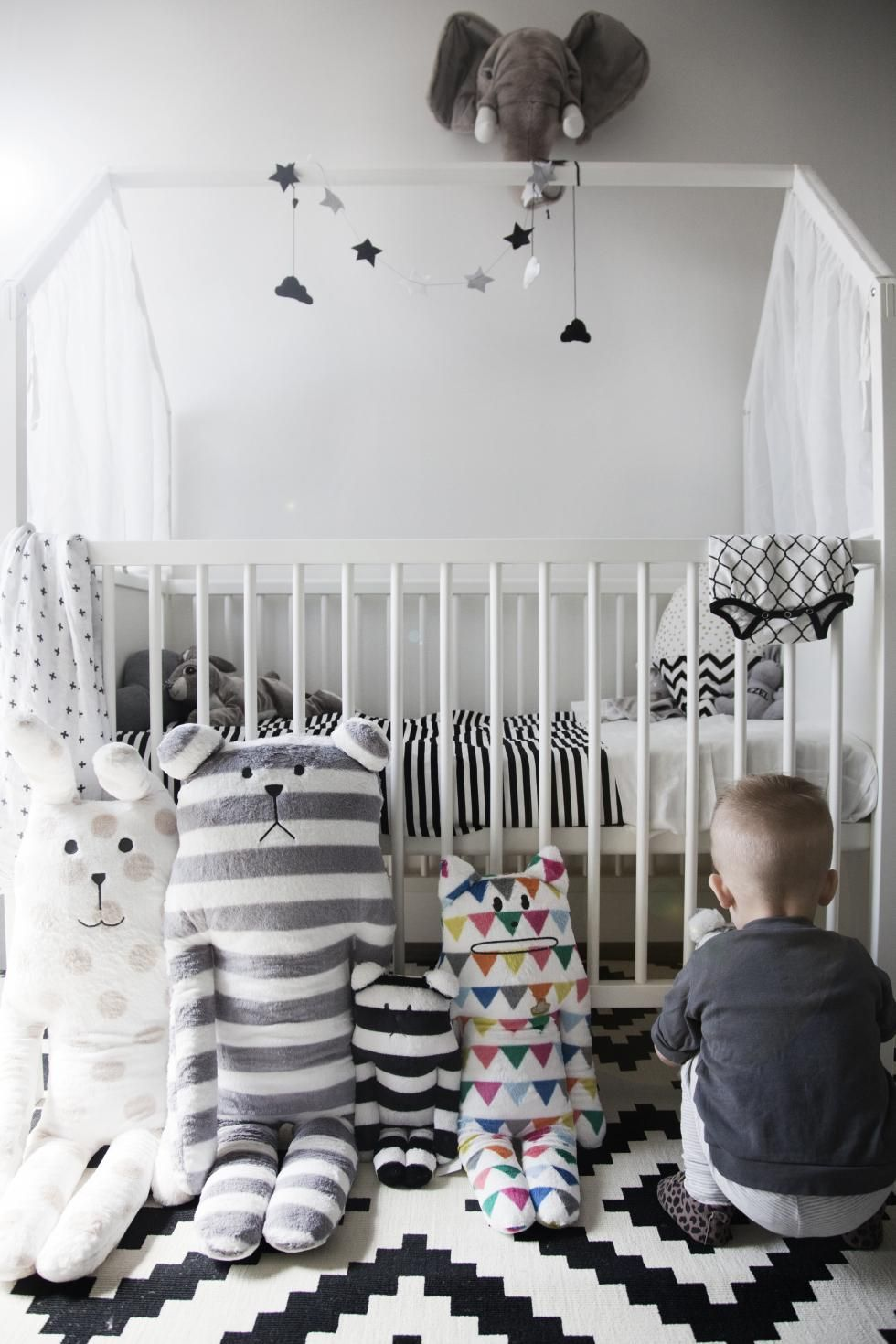 Stunning Scandinavian inspired nursery featured Stokke Home Crib in ...