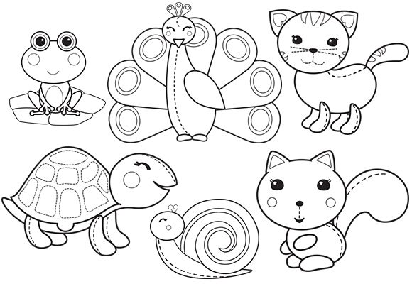 New Animal Colouring! love them! Pinterest Belle - new animal coloring pages with patterns