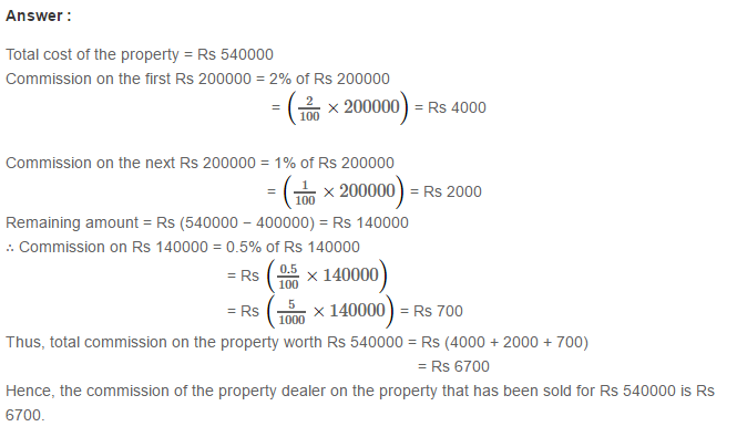 Percentage Rs Aggarwal Cbse Class Vii Maths Solutions Exercise 10b Maths Solutions Math Solutions