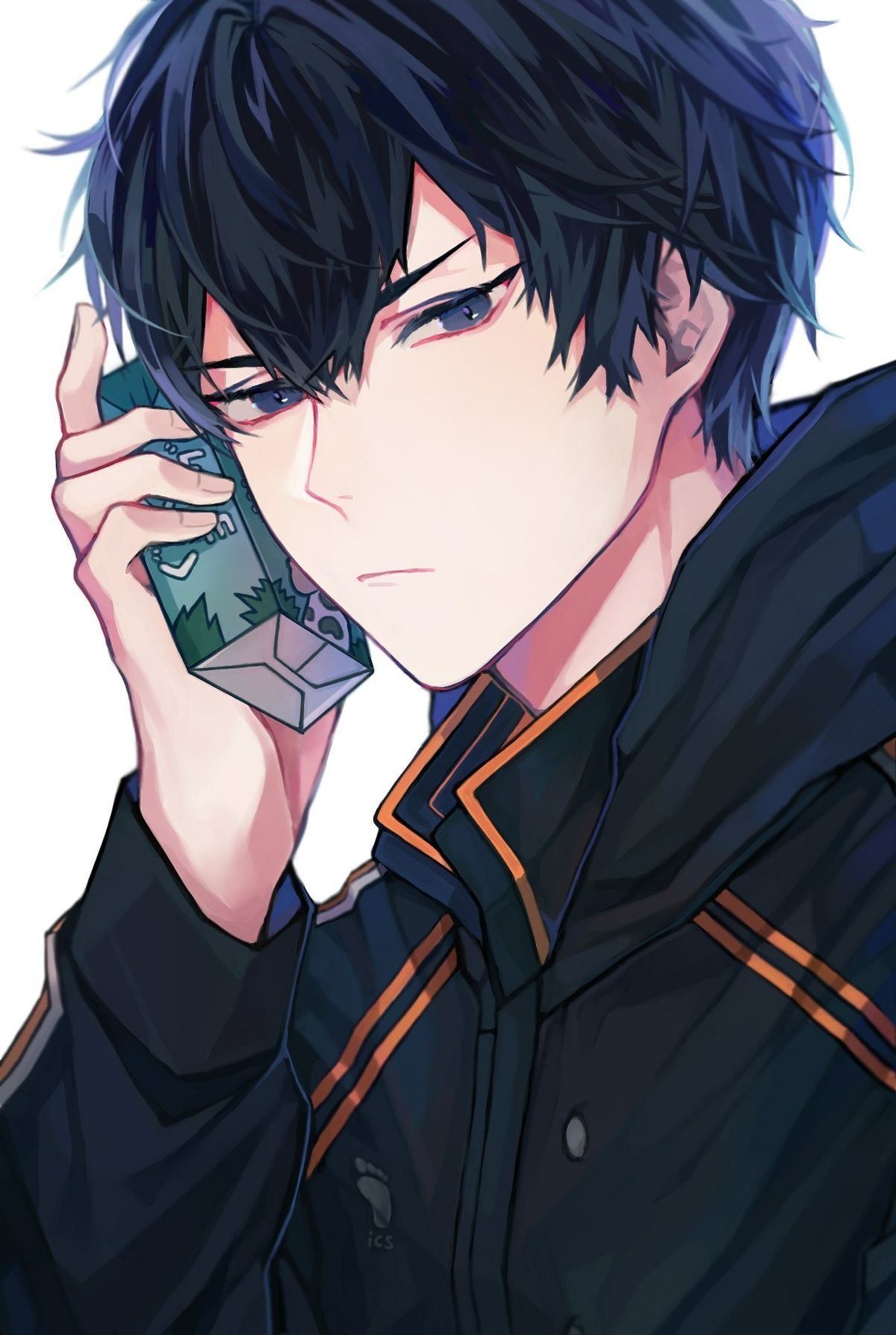 Pin By Kess On Turners In 2020 Black Haired Anime Boy Blue Hair Anime Boy Anime Guys With Glasses