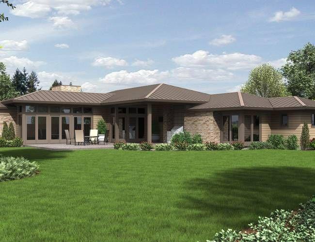 Mascord House Plan 1246 The Houston Prairie Style Houses Ranch Style House Plans Ranch House Plans