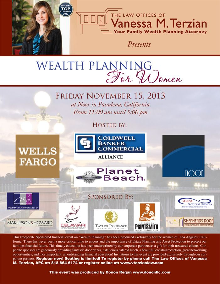 WomenS Education Financial Planning Seminar  Flyer Idea For
