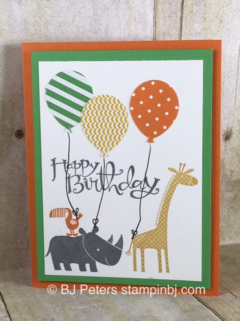Super cute kid birthday card using zoo babies and balloon bouquet super cute kid birthday card using zoo babies and balloon bouquet punch from stampin up bookmarktalkfo Image collections