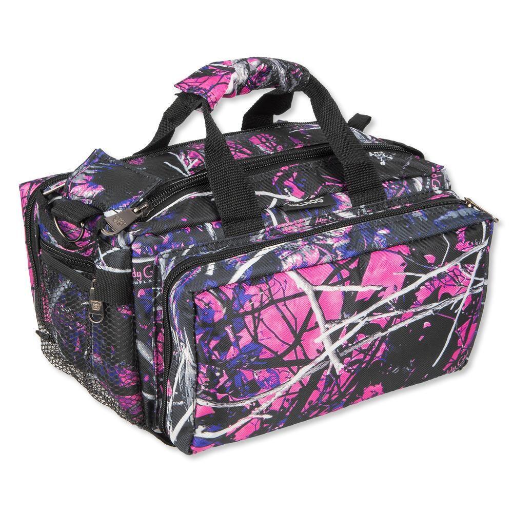 bulldog cases deluxe range bag nylon pink muddy girl camo bd910mdg