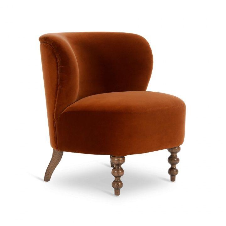 Dolly chair rust velvet root catalog furniture