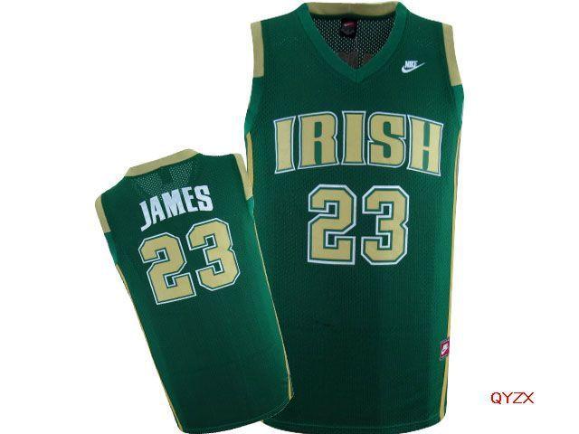 reputable site 54a6d f0b11 Lebron James Irish Green Mesh jerseys | Luck of the Irish ...