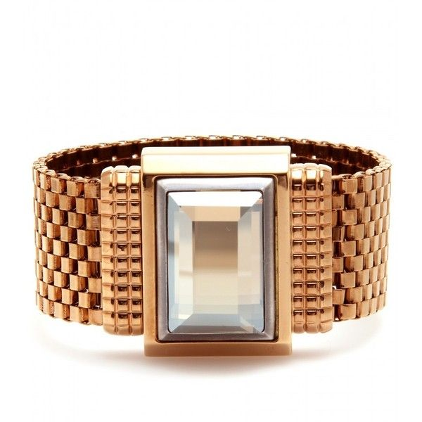 Lanvin Mesh Bracelet With Crystal