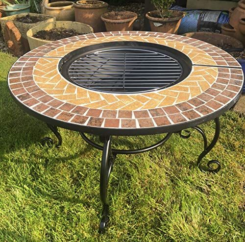 Photo of Bestfire 3 IN 1 GARDEN BBQ FIREPIT WITH GRILL KIT for Cooking with Mosaic Outdoor Cooking Table – LOG FIRE PIT Bowl for Patio Heater, WATERPROOF Rain Cover