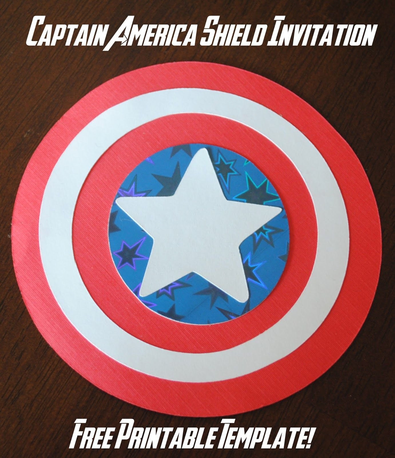 It is a picture of Canny Captain America Shield Printable