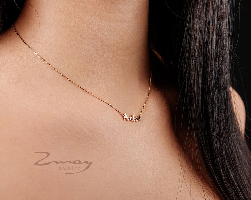 pin on pendant your it necklace gold name tiny chains personalized with