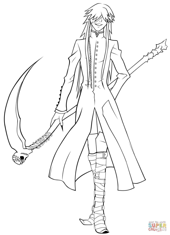 Undertaker Grim Reaper Coloring Page